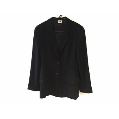 クリッツィア KRIZIA コート サイズ40 M レディース 美品 ネイビー 肩パッド/春・秋物【中古】