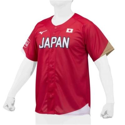 ミズノ メンズ SOFT JAPANレプリカユニフォーム(番号ネームなし)[ユニセックス] 62レッド ソフトボール オフィシャルグッズ 12JC0F93