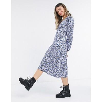 ミスセルフフリッジ レディース ワンピース トップス Miss Selfridge midi tea dress in purple floral