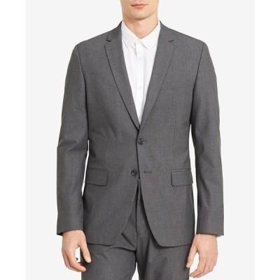カルバンクライン ジャケット&ブルゾン アウター メンズ Men's  Infinite Slim-Fit Suit Jacket Iron Gate