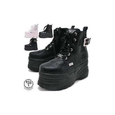 厚底スニーカー メンズ ハイカット メダリオンの厚底ブーツタイプ ヨースケ YOSUKE 靴※(予約)は3営業日内に発送