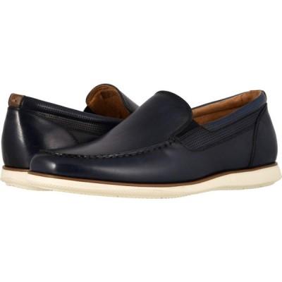 フローシャイム Florsheim メンズ スリッポン・フラット シューズ・靴 Atlantic Moc Toe Venetian Slip-On Navy Smooth/White Sole