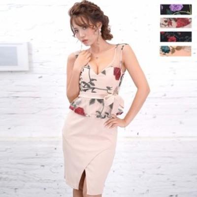 キャバ ドレス  送料無料 レース タイト 刺繍フラワーセクシーミニドレス ドレス ワンピース ミニドレス セクシー