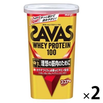ザバス(SAVAS) ホエイプロテイン100 ココア味 14食分 1セット(2袋) 明治 プロテイン