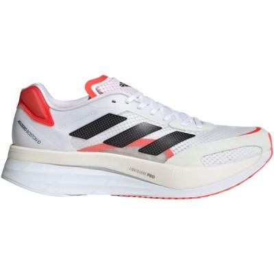 アディダス シューズ メンズ ランニング adidas Men's Adizero Boston 10 Running Shoes White/Orange