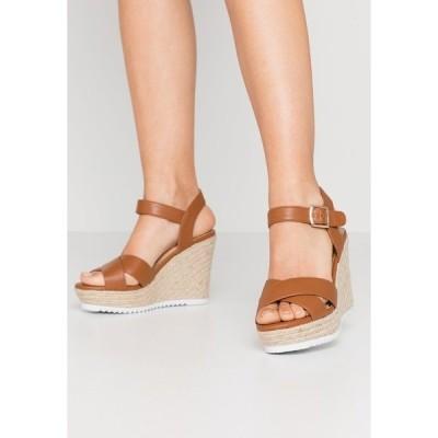 ヘッドオーバーヒールズ サンダル レディース シューズ KATYAA - High heeled sandals - tan