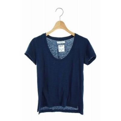 【中古】マディソンブルー MADISONBLUE Tシャツ カットソー 半袖 XS 紺 /AO ■OS レディース