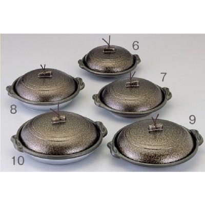マイン庵陶板 浅皿 いぶし金 φ14画像NO6です。