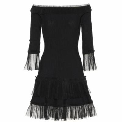 ジョナサン シンカイ Jonathan Simkhai レディース ワンピース ワンピース・ドレス Tulle-trimmed knitted dress Black