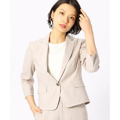 COMME CA ISM / 【 ウォッシャブル / セットアップ対応 】 リネン混テーラードジャケット WOMEN ジャケット/アウター > テーラードジャケット