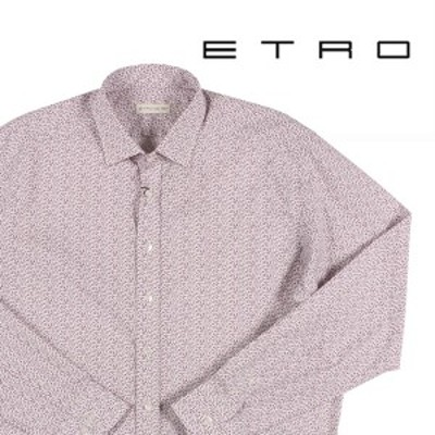 ETRO(エトロ) 長袖シャツ 12908 ホワイト x パープル 43 【A22091】