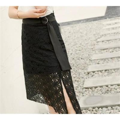レディーススカート レース 透け感 ファッション マッチングしやすい ファッション 着心地いい おしゃれ 夏 セール★ レディーススカート