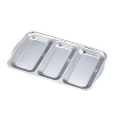 ステンレス 3連バット 日本製 ( 調理用バット ステンレストレイ ステンレス製 キッチン用品 下ごしらえ 仕込み 3連バット 連結バット ステンレストレー 角型バット 角バット 角型トレイ 揚げ物ケース )