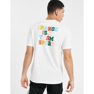アディダス メンズ シャツ トップス adidas Originals Superstar change is a team sport t-shirt with back print in green Green