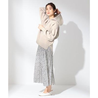 any FAM 【洗える】ダブルプリーツ スカート (ホワイト系5)