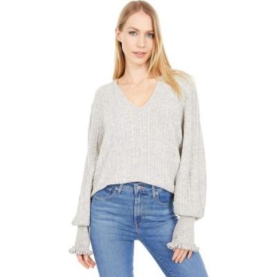 ラッキーブランド Lucky Brand レディース ニット・セーター トップス Relaxed Peasant Sweater Heather Grey