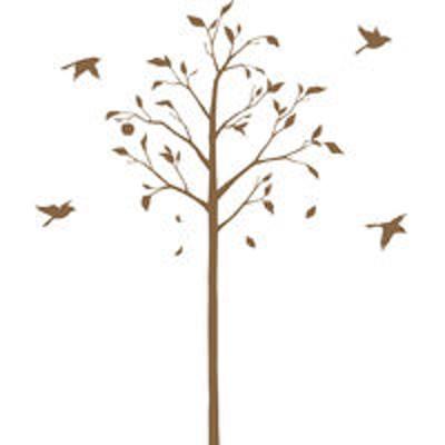 マッチングジャパン東京ステッカー ウォールステッカー 大判 転写 植物【林檎の木と小鳥/BR/S】 TSー0051ーCS (直送品)