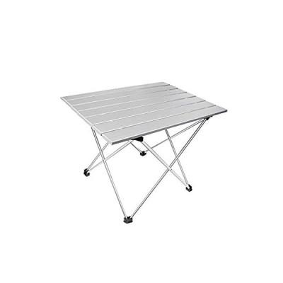 Takarafune アウトドアテーブル アルミ製 超軽量 コンパクト 折りたたみ キャンプ テーブル 収納袋付き 折りたたみ式 ポータブル 軽量 旅