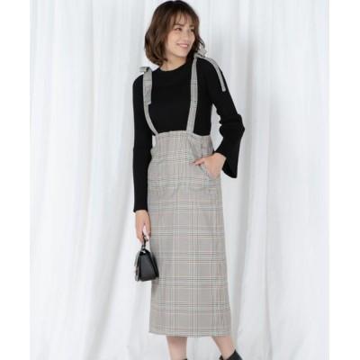 VICKY/ビッキー サスペンダー付きスカート ベージュ系その他 S