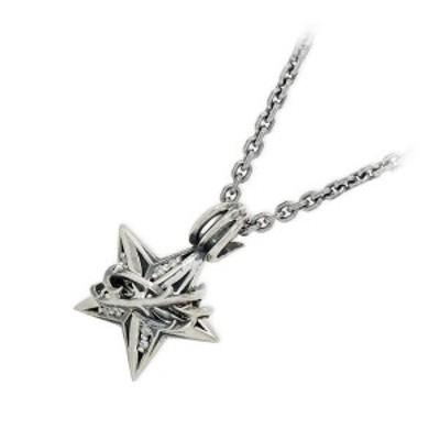 ネックレス メンズ M's collection シルバー スター ダイヤモンド 4月の誕生石 彼氏 誕生日プレゼント ギフト