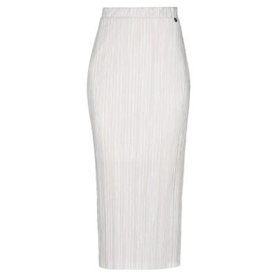 ジャスト・フォー・ユー JUST FOR YOU 7分丈スカート ベージュ L ポリエステル 100% 7分丈スカート