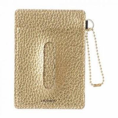メタリック パスケース ゴールド LSG05-120GD 【送料無料】(定期入れ、カード入れ、カードケース、パスケース、財布、ウォレット)
