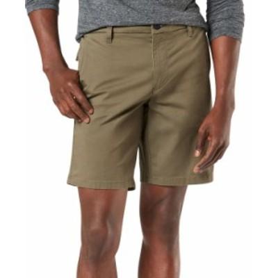 ドッカーズ メンズ ハーフパンツ・ショーツ ボトムス Men's Ultimate Supreme Flex Stretch Solid Shorts Earth Moss Brown