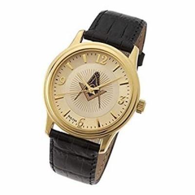 新しいメンズゴールドFinished Bulova Masonic Blue Lodge Watch
