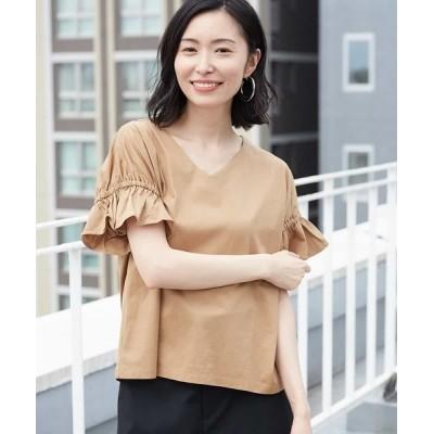 MICHEL KLEIN HOMME / 【洗える】ギャザースリーブカットソー WOMEN トップス > Tシャツ/カットソー