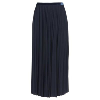 アルファスタジオ ALPHA STUDIO 7分丈スカート ダークブルー 38 ポリエステル 94% / ポリウレタン 6% 7分丈スカート