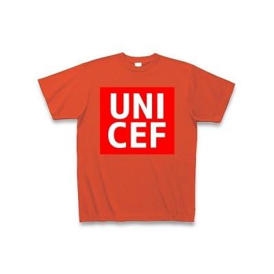 【ユニクロ風】UNICEF(ユニセフ) Tシャツ Pure Color Print(イタリアンレッド)