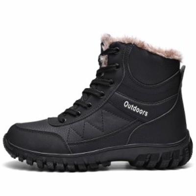 冬用 ブーツ メンズスノーブーツ ショートブーツ あったか防寒ブーツ ワークブーツ防寒 保温 冬靴スニーカーメンズ