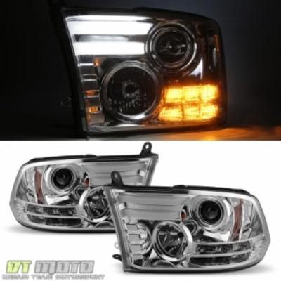 ヘッドライト 2009-2017 Dodge Ram [LEDプラズマチューブ] DRLプロジェクターヘッドライトランプ左右右