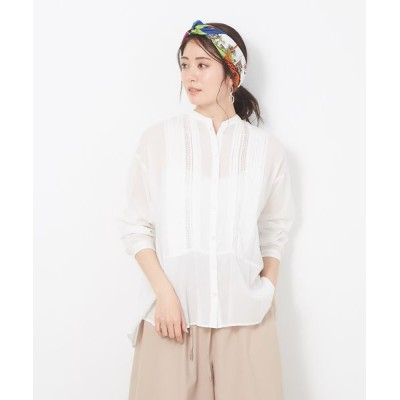 collex/コレックス ピンタックレースシャツ オフホワイト F