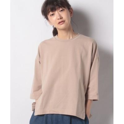 (koe/コエ)ミニ裏毛7分袖プルオーバー/レディース ベージュ