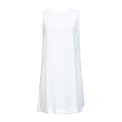 OTTOD'AME ミニワンピース&ドレス ホワイト 42 レーヨン 100% ミニワンピース&ドレス