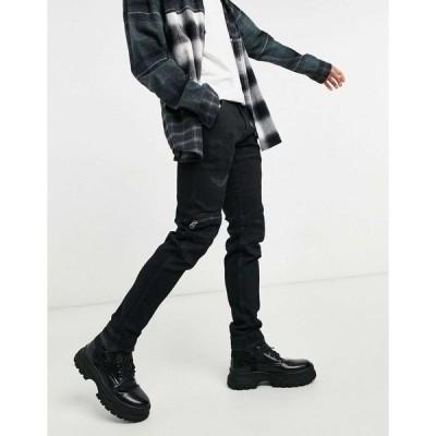 ジースター スリム ジーンズ メンズ G-Star 3D slim jeans in black エイソス ASOS ブラック 黒
