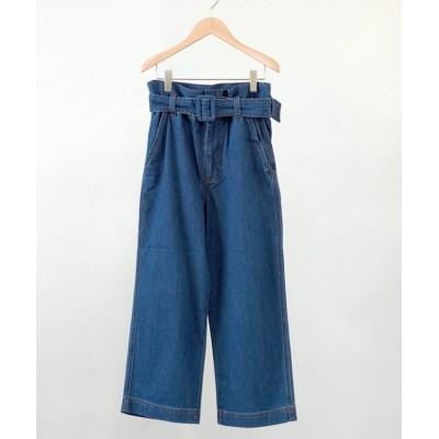 【フィーカ】 AOS Pants With Belt Mid Wash レディース ブルーG S FIKA.