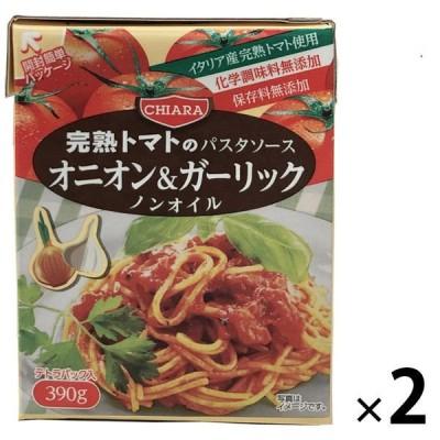 富士貿易富士貿易 キアーラ ノンオイルパスタソース ガーリック&オニオン 390g 1セット(2個)