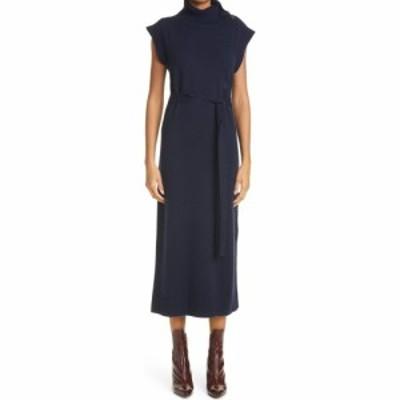 クロエ CHLOE レディース ワンピース ワンピース・ドレス Cap Sleeve Wool and Cashmere Dress Classic Navy