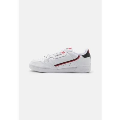 アディダス メンズ 靴 シューズ CONTINENTAL 80 - Trainers - footwear white/core black/scarlet