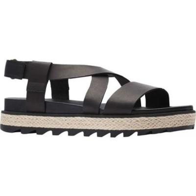 ソレル Sorel レディース サンダル・ミュール シューズ・靴 Roaming Crisscross Jute Sandal Black Full Grain Leather