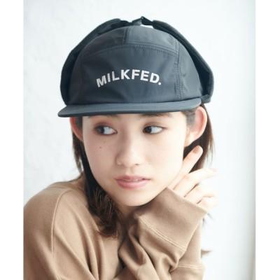 MILKFED. / STENCIL EAR FLAP CAP WOMEN 帽子 > キャップ