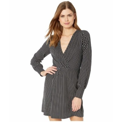 BCBジェネレーション ワンピース トップス レディース Twist Front Long Sleeve Dress - TQD6263720 Black