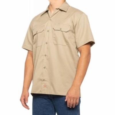ディッキーズ Dickies メンズ 半袖シャツ トップス original twill work shirt - short sleeve Khaki