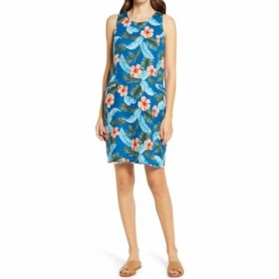 トミー バハマ TOMMY BAHAMA レディース ワンピース シフトドレス ワンピース・ドレス Hibiscus Isle Floral Linen Shift Dress Blue All