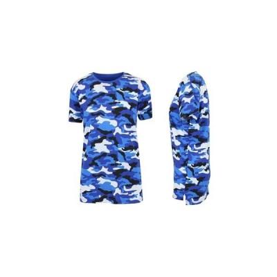 ギャラクシーバイハルビック カットソー トップス レディース Women's Loose Fit Short Sleeve Crew Neck Camo Printed Tee Blue Camo