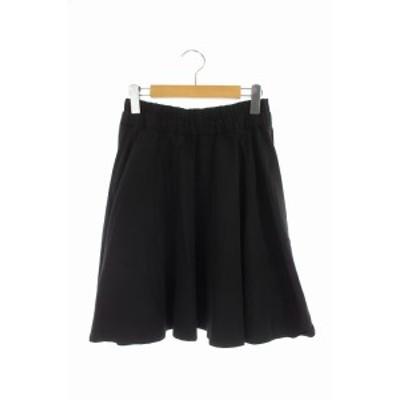 【中古】ミューズ ドゥーズィエムクラス MUSE de Deuxieme Classe スカート 膝丈 フレア  36 黒 /AO  レディース