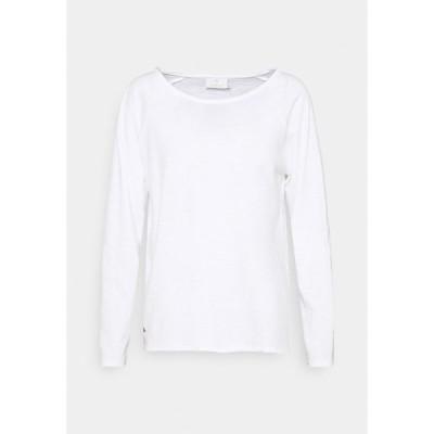 カフェ カットソー レディース トップス VITTA - Long sleeved top - optical white