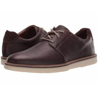 Clarks クラークス メンズ 男性用 シューズ 靴 オックスフォード 紳士靴 通勤靴 Grandin Plain Dark Brown Tumbled Leather【送料無料】